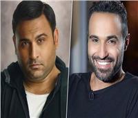 أحمد فهمي وأكرم حسني في تحضيرات «تيمون وبومبا»