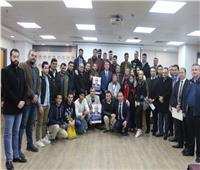 السفير دياب اللوح يطلع الطلبة بجامعة القاهرة على مستجدات القضية الفلسطينية