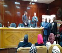 رئيس جامعة بنها يفتتح دورات تدريب جائزة مصر للتميز الحكومي