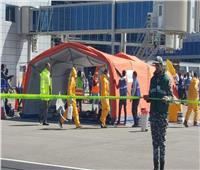 صور| تجربة طوارئ موسعة فى مطار الغردقة الدولى