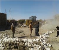 إزالة 8 حالات تعدٍ على أراضي الدولة بأرمنت في الأقصر