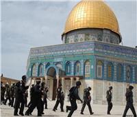 عشرات المستوطنين وعناصر شرطة الاحتلال الإسرائيلي يقتحمون المسجد الأقصى