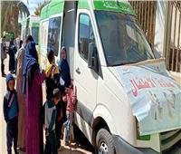 صحة المنيا تنظم قافلة طبية لإحدى قرى الظهير الصحراوي بمركز مطاي
