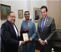 وزيرا التعليم العالى المصري والإماراتي يزوران كلية الفنون الجميلة بـ«حلوان»