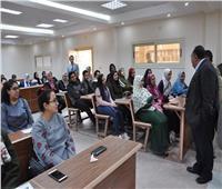 رئيس جامعة حلوان يفتتح تطوير منشآت كلية التجارة بالزمالك