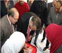 محافـظ المنوفية يدشنالحملة القومية للتطعيم ضد مرض شلل الأطفال
