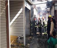 الحماية المدنية تسيطر على حريق بسوق الباعة الجائلين في الغردقة