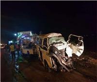 إصابة 17 عاملا في حادث انقلاب سيارة بأسيوط