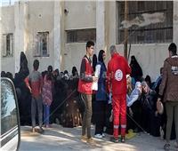 صور| الهلال الأحمر المصري : توزيع 469 طنًّا من المساعدات الغذائية في شمال سيناء