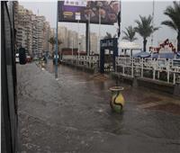 أمطار «الشمس الصغيرة» تغرق شوارع الإسكندرية