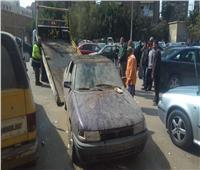 استمرار حملة رفع السيارات المتهالكة بشوارع العاصمة