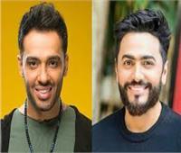 تامر حسني يهنئ رامي جمال بألبومه الجديد: مبروك النجاح وتصدر التريند