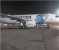 صور| «مصر للطيران» تتسلم الطائرة الثانية من طراز الإيرباص A320 neo بمطار القاهرة