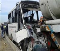 ننشر تفاصيل حادث تصادم أتوبيس مع ميكروباص بالمنيا