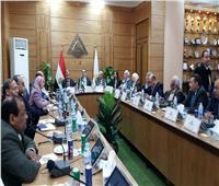 رئيس جامعة بنها يستقبل أعضاء لجنة قطاع الحاسبات على هامش يوم أولمبياد