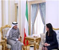 «المشاط» تناقش مع وزير الخارجية الكويتي تعزيز العلاقات الثنائية بين البلدين