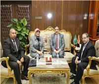«أبو ليمون» يستقبل رئيس الإدارة المركزية للإعلام الصحي والسكاني بالمنوفية