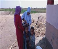تطعيم الأطفال على الحدود الإدارية بين شمال سيناء وبورسعيد