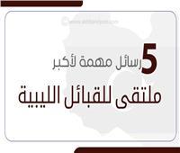 إنفوجراف| 5 رسائل مهمة لأكبر ملتقى للقبائل الليبية