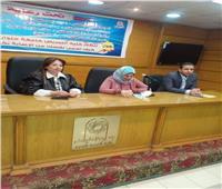حملة توعية ضد فيروس كورونا بكلية التربية الفنية جامعة حلوان