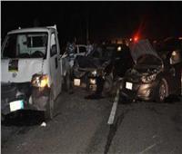 مصرع 3 أشخاص وإصابة 2 فى تصادم سيارة ملاكى وأخرى نقل بالمنيا
