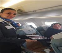 صور  «مصر للطيران» تحتفل بركاب أولى رحلتها بين مدينتي شرم الشيخ و الأقصر
