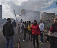 السيطرة على حريق محدود بإحدى المناحل بمدينه قها| صور