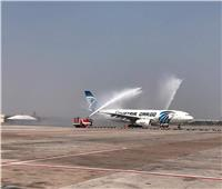 صور| مطار بانكوك يحتفل باستقبال أول رحلة بضائع لشركة مصر للطيران