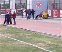 الخطيب يزور مران الأهلي ويجتمع باللاعبين والجهاز الفني