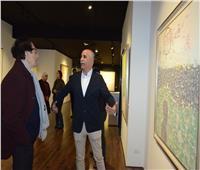 فاروق حسني: معرض «لا شيء يبقى» متفرد ويخرج عن الدارج