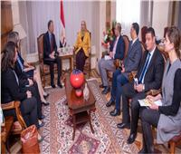 وزيرة التضامن الاجتماعي تستقبل السفير الأمريكي بالقاهرة