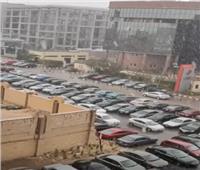شاهد| تساقط الثلوج بالقاهرة الجديدة