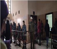 صور| إجراءات أمنيةمشددةبمحاكمة المتهمين في قضية شهيد الشهامة
