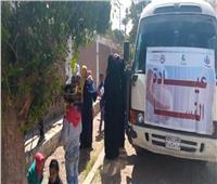 الكشف على ١١١٥ حالة خلال القافلة الطبية بقرية الخضيرات في نجع حمادي