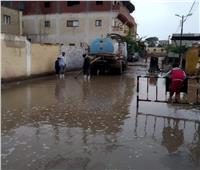 الدفع بسيارات لكسح مياه الأمطار بالمنوفية