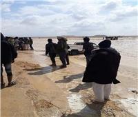 ارتفاع منسوب السيول في مناطق «الحسنة» بوسط سيناء
