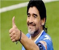 «مارادونا» يدعم نابولي ضد برشلونة في دوري الأبطال