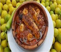 طبق اليوم .. «طاجن بطارخ سمك بوري»