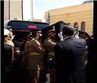 جنازة مبارك| أول صورة لنعش الرئيس الأسبق داخل مسجد المشير