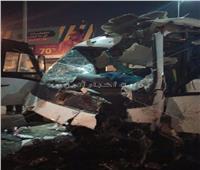 مصرع سائق فى حادث تصادم نقل أعلى الدائرى
