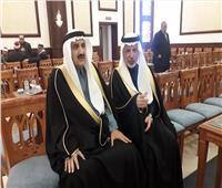 الأمير منصور بن متعب بن عبد العزيز يصل عزاء «مبارك»