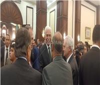 أحمد نظيف يصل عزاء الرئيس الراحل مبارك