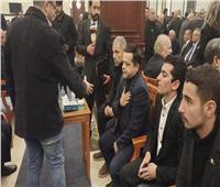 شاهد| محمد هنيدي في عزاء الرئيس الأسبق مبارك .. فيديو