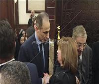 فيديو .. إلهام شاهين في عزاء الرئيس الأسبق «مبارك»