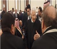 مكرم محمد أحمد يصل عزاء مبارك