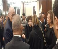 لبلبة تصل عزاء الرئيس الراحل مبارك