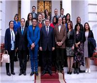 وزير الدولة للإعلام يلتقي بعدد من مذيعى ماسبيرو