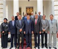 أسامة هيكل يلتقي رئيس وأعضاء الهيئة الوطنية للصحافة