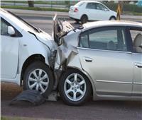 حادث مروع بين سيارتين أسفل الطريق الزراعي بنفق سندنهور بالقليوبية