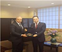 سفير مصر في طوكيو يلتقي وزير الدولة الياباني للشئون الخارجية